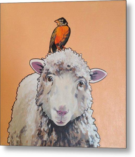 Shelley The Sheep Metal Print