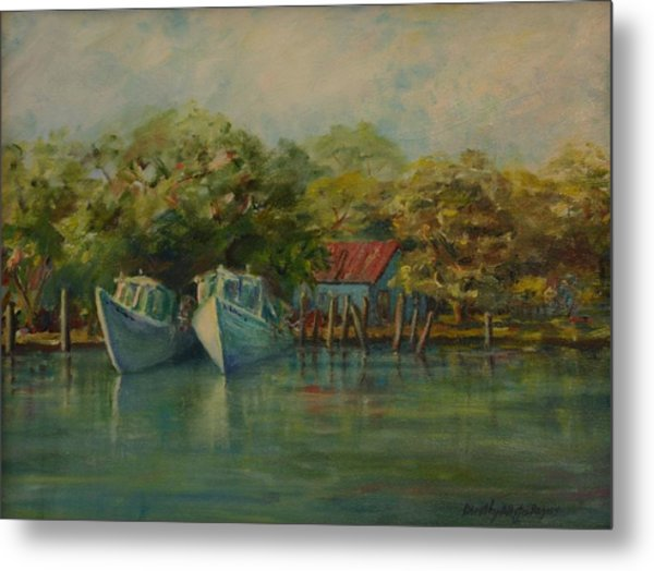 Shem Creek Boats Metal Print