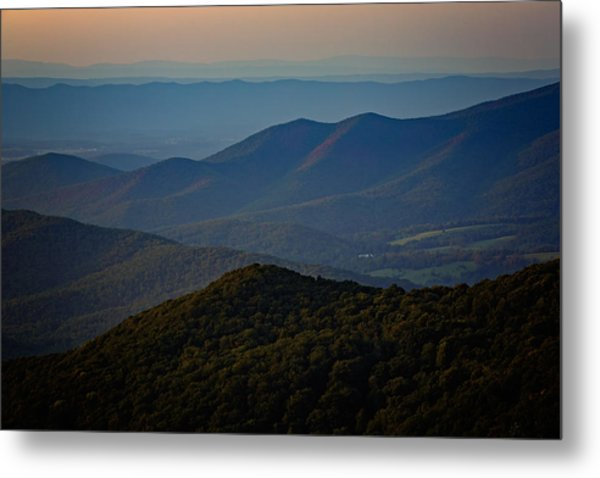 Shenandoah Valley At Sunset Metal Print