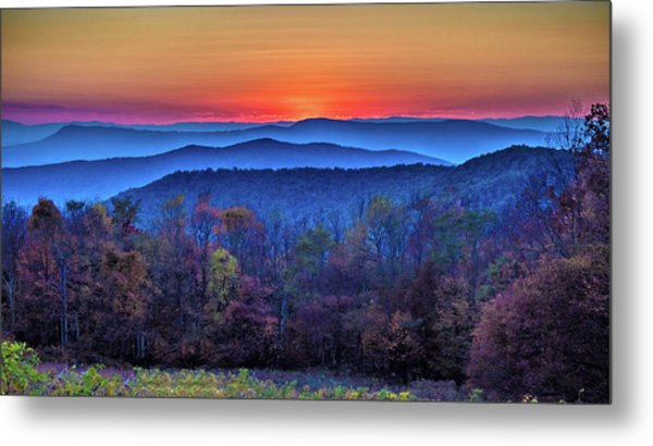 Shenandoah Valley Sunset Metal Print