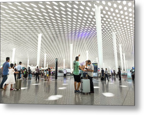 Metal Print featuring the photograph Shenzhen Airport by Geoffrey Lewis