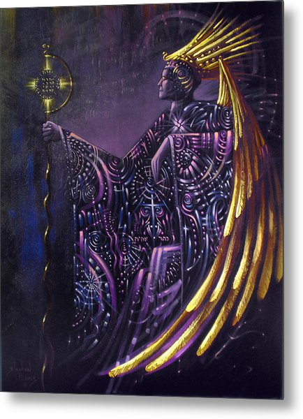 Shielded By Ineffable Names Thus I Rule Metal Print by Stephen Lucas