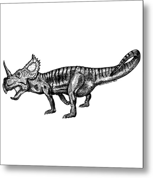 Shielizard Metal Print by Karl Addison