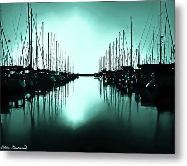 Shilshole Bay Marina In Seattle Washington Metal Print