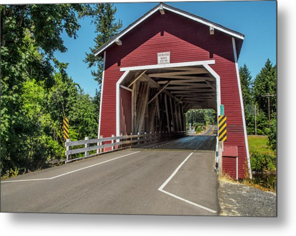 Shimanek Covered Bridge Metal Print