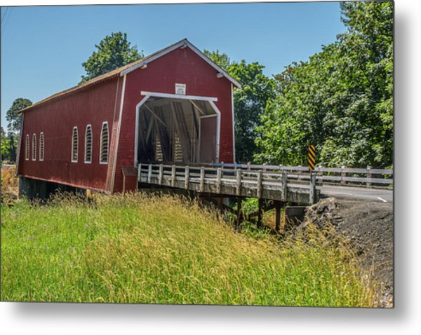 Shimanek Covered Bridge No. 2 Metal Print