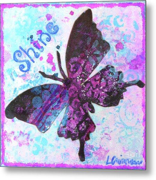 Shine Butterfly Metal Print