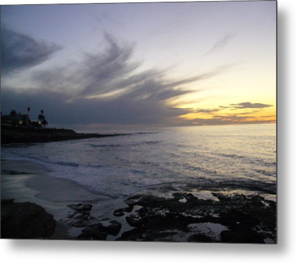 Ship In The Clouds Metal Print