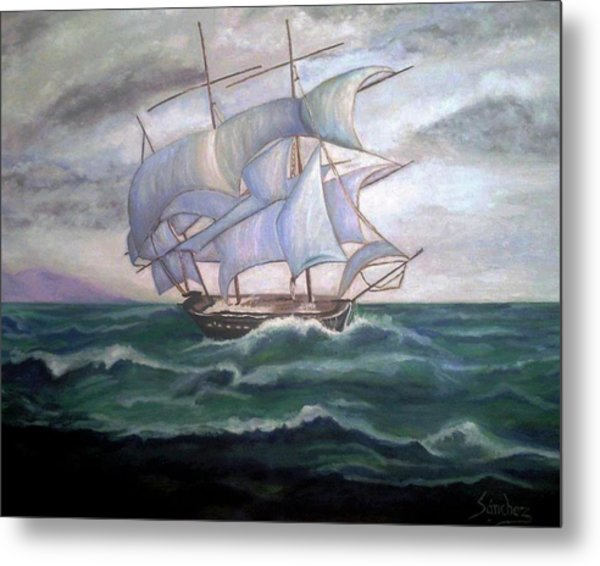 Ship Out To Sea Metal Print