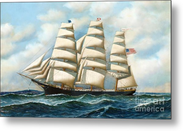 Ship Young America At Sea Metal Print