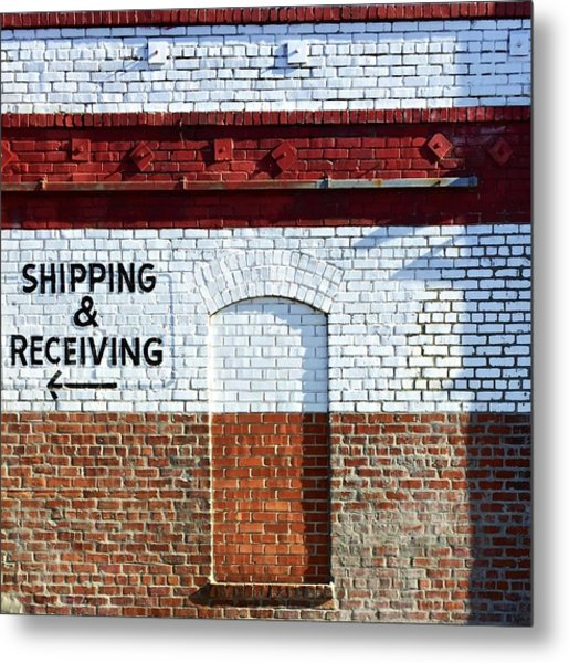 Shipping And Receiving  Metal Print