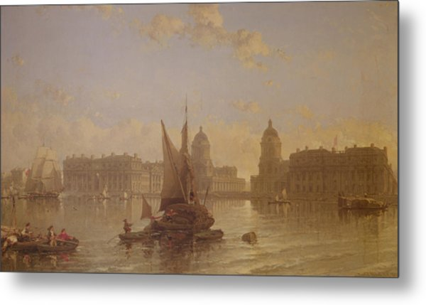 Shipping On The Thames At Greenwich Metal Print