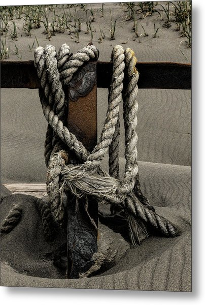 Metal Print featuring the photograph Shipwecked Rope by Fred Denner