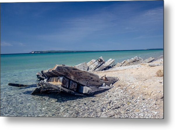 Shipwreak Metal Print by Donna Sparks