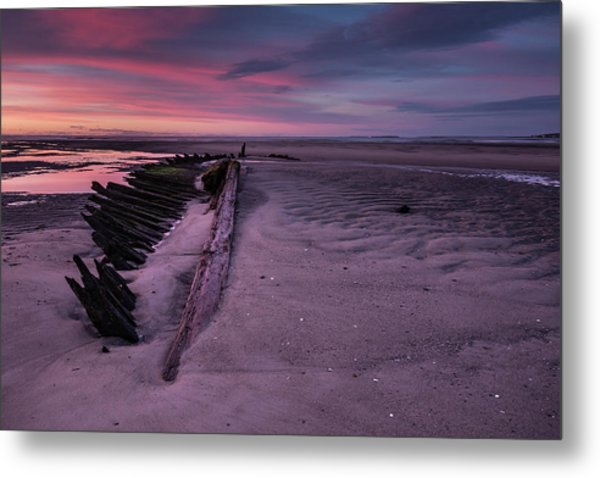 Shipwreck Sunrise  Metal Print