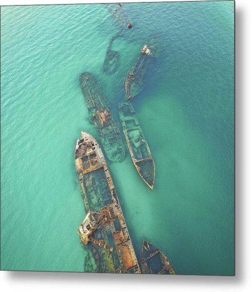Shipwrecks Metal Print