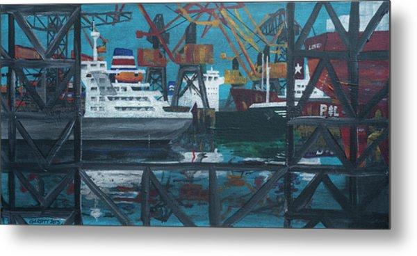 Shipyard Metal Print