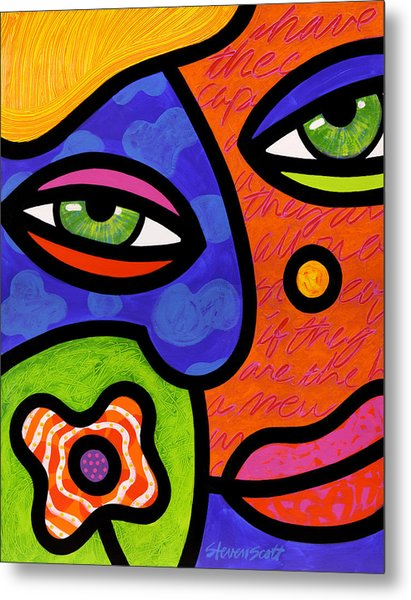 Shirley Whirly-gig Metal Print