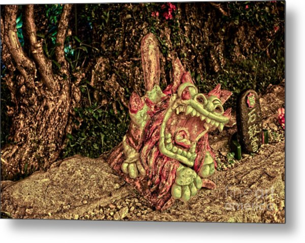 Shishi Dog Metal Print