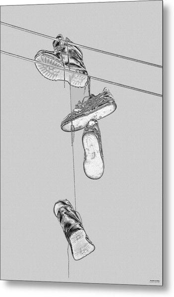 Shoefiti 2103bw Metal Print