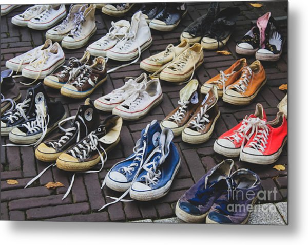 Shoes At A Flea Market Metal Print