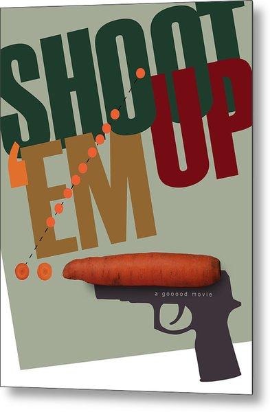 Shoot 'em Up Movie Poster Metal Print