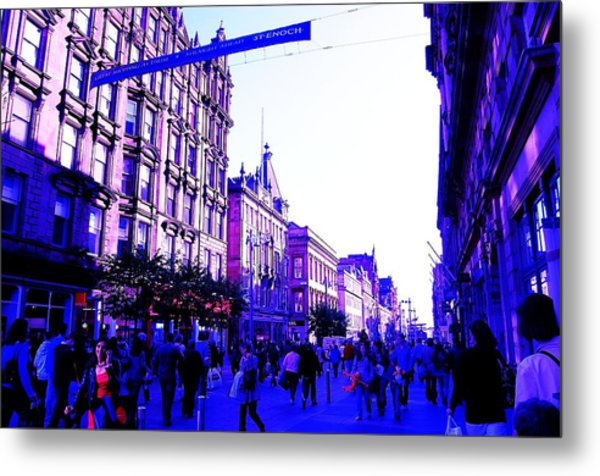 Shopping Metal Print