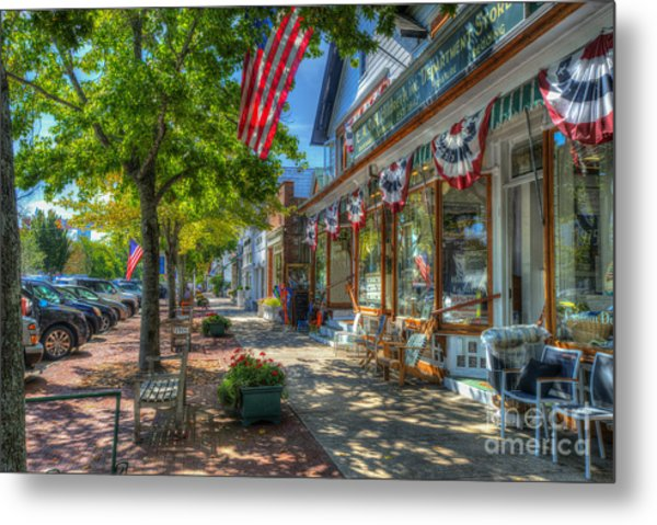 Shopping In The Hamptons Metal Print