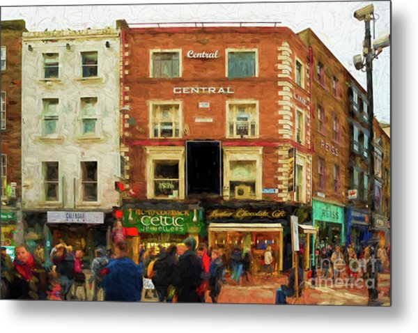 shopping on Grafton Street in Dublin Metal Print