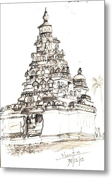 Shore Temple  Metal Print by KaramChand Nanta