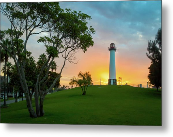 Shoreline Lighthouse Metal Print