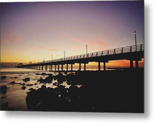 Shorncliffe Pier At Dawn Metal Print