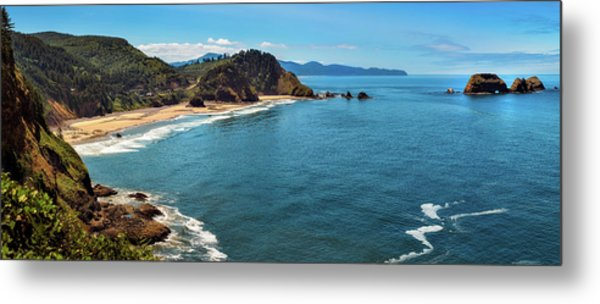 Short Beach, Oregon Metal Print