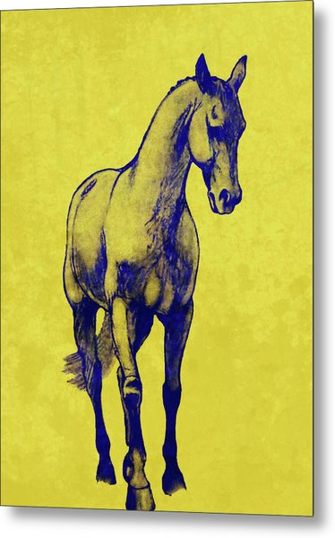Shoulder-in Duotone Metal Print by JAMART Photography