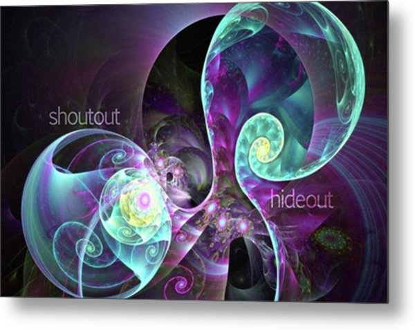 Shoutout Hideout - Digital Abstract Metal Print by Michal Dunaj