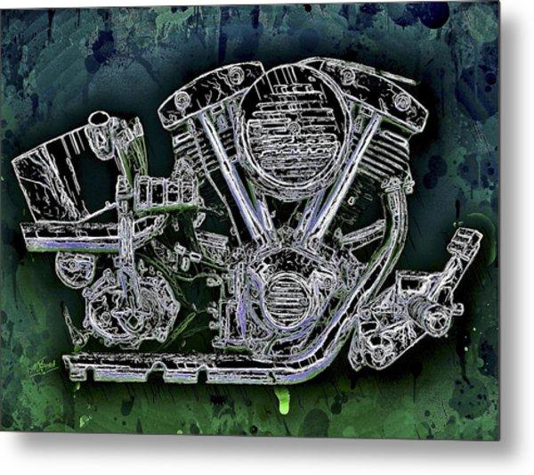 Harley - Davidson Shovelhead Engine Metal Print