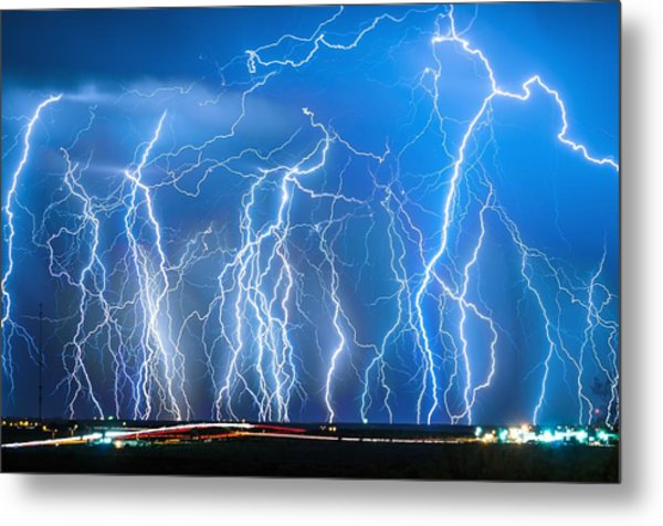 Show On Broadway Ave Metal Print