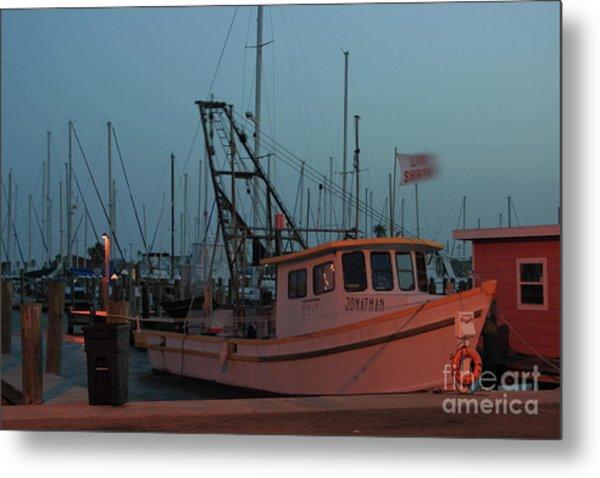 Shrimp Boat Metal Print
