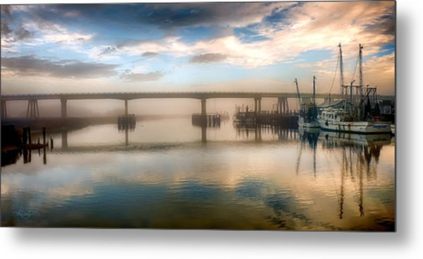 Shrimp Boats At Sunrise Metal Print