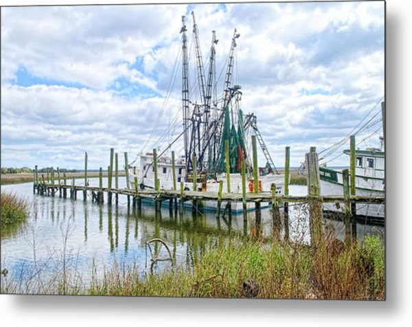 Shrimp Boats Of St. Helena Island Metal Print