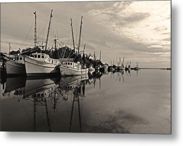Shrimp Boats On The Altamaha Metal Print