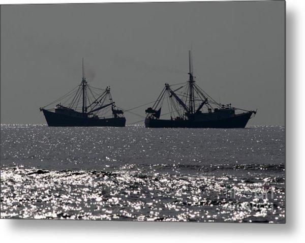 Shrimp Boats Metal Print by Rick Mann