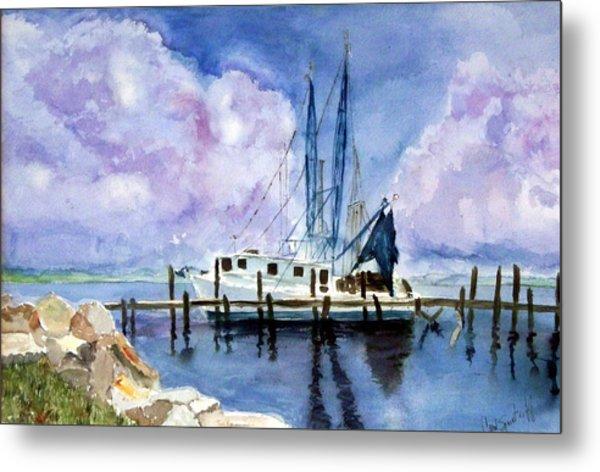 Shrimpboat Metal Print by Carol Sprovtsoff