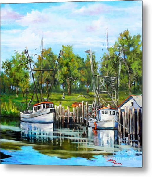 Shrimping Boats Metal Print