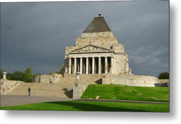Shrine Of Remembrance Metal Print