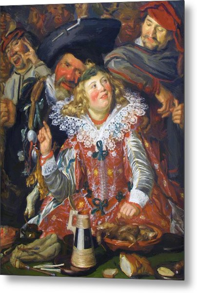 Shrovetide Revellers The Merry Company Metal Print