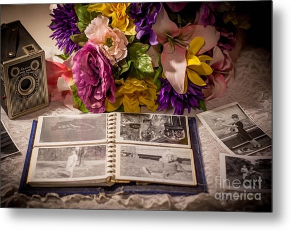 Shur Shot From The Past In Color Metal Print