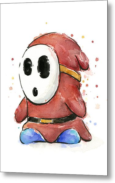 Shy Guy Watercolor Metal Print