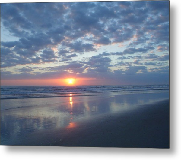 Shy Sunrise Metal Print