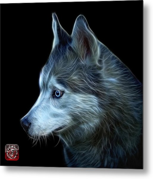 Metal Print featuring the painting Siberian Husky Art - 6048 - Bb by James Ahn